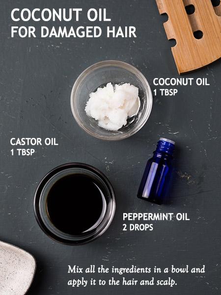 COCONUT OIL FOR DAMAGED HAIR -