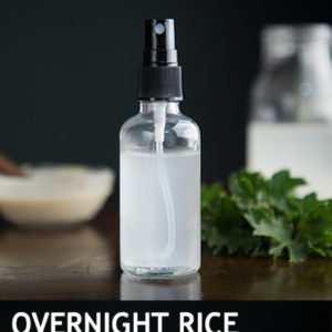 OVERNIGHT RICE WATER FOR FASTER HAIR GROWTH