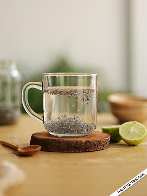 MORNING DETOX TEA - CHIA GREEN TEA  DRINK