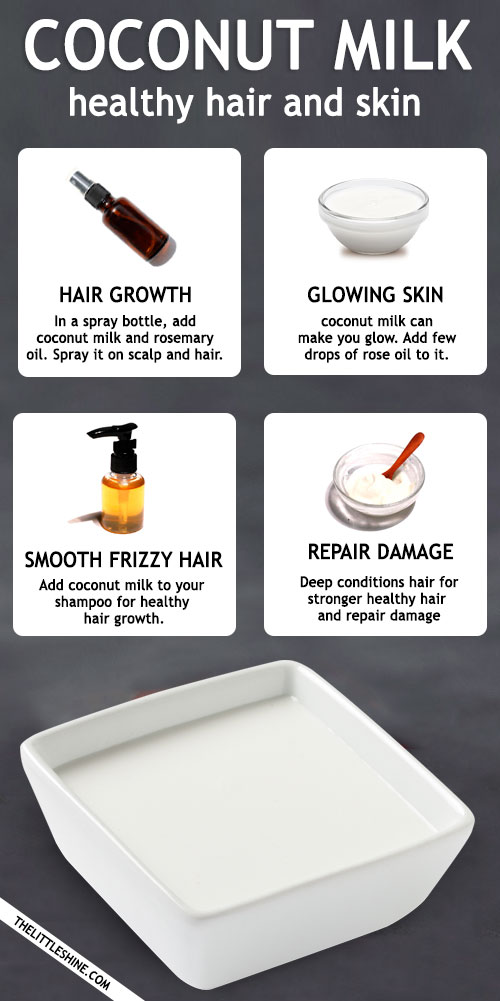 Coconut Milk beauty benefits and uses for healthy hair and skin