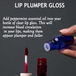 Lip plumping lip gloss