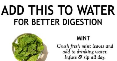 ADD THIS TO YOUR WATER FOR BETTER DIGESTION
