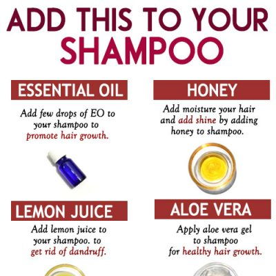 THINGS TO ADD TO YOUR SHAMPOO FOR HEALTHY HAIR GROWTH