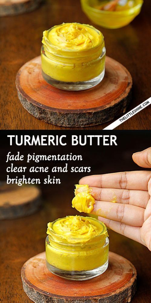 TURMERIC BUTTER to brighten and clear skin