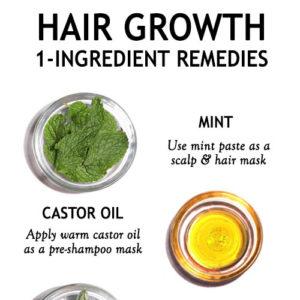 1 INGREDIENT HAIR GROWTH REMEDIES