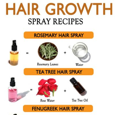 6 BEST HAIR GROWTH SPRAY RECIPES