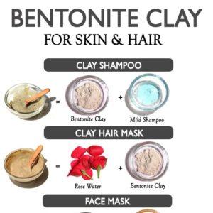 BENTONITE CLAY FOR SKIN AND HAIR