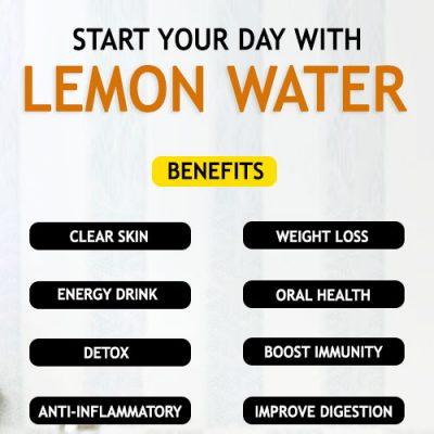 Lemon water recipe and benefits