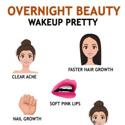 NATURAL OVERNIGHT BEAUTY TIPS TO WAKEUP WITH CLEAR SKIN AND SHINY HAIR