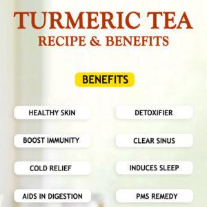 TURMERIC TEA RECIPE AND BENEFITS