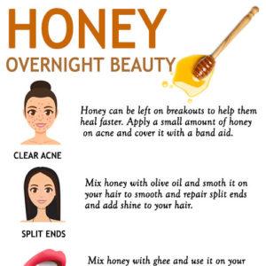 OVERNIGHT HONEY BEAUTY TIPS
