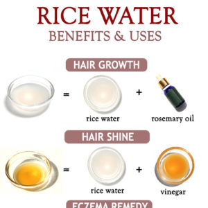 Rice water beauty benefits and uses