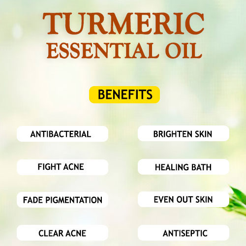 TURMERIC ESSENTIAL OIL BENEFITS AND USES