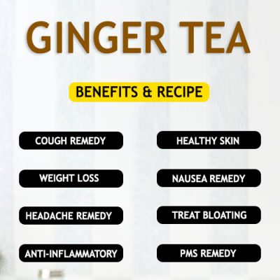 GINGER TEA RECIPE AND BENEFITS