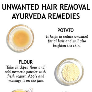 AYURVEDA REMEDIES FOR UNWANTED HAIR REMOVAL