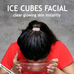 GLOWING SKIN WITH ICE CUBES