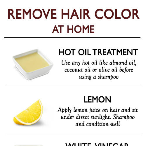BEST WAYS TO REMOVE A HAIR COLOUR