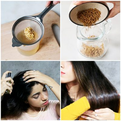 FERMENTED FENUGREEK WATER FOR THICKER HAIR GROWTH