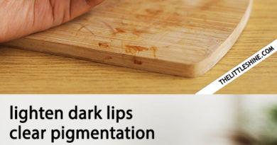 Overnight Turmeric lip serum to lighten dark lips and treat dry lips