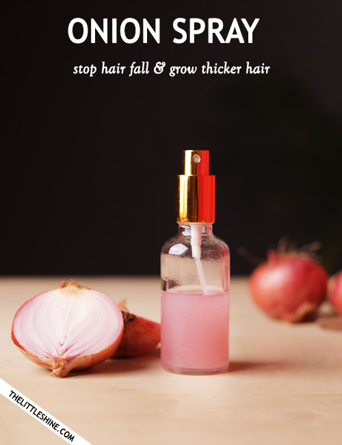 ONION HAIR SPRAY FOR THICKER HAIR GROWTH AND STOP HAIR FALL
