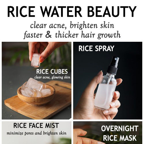 WAYS TO USE RICE WATER FOR HAIR GROWTH AND TO BRIGHTEN SKIN