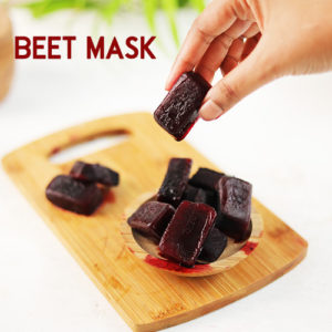 BEET ICE MASK TO BRIGHTEN SKIN AND ADD A HEALTHY GLOW