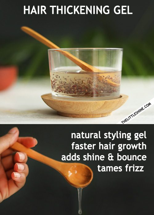 HAIR THICKENING GEL - styling and hair growth gel