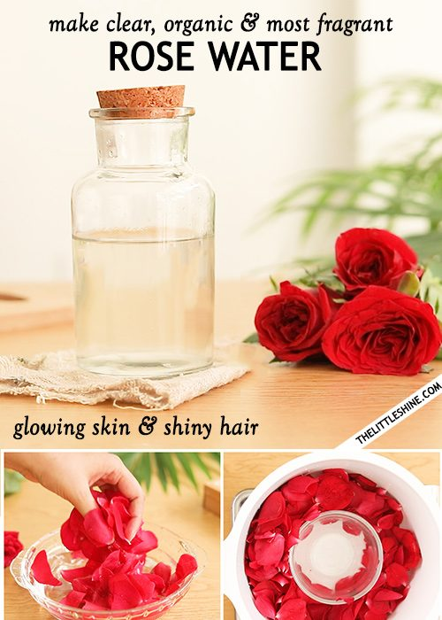 Clear, organic and most fragrant rose water recipe