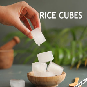 RICE WATER CUBES for smooth, healthy skin