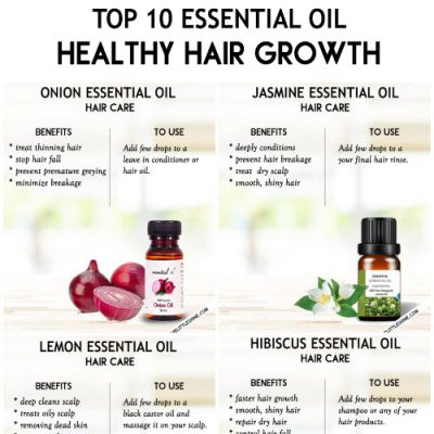 TOP 10 ESSENTIAL OIL FOR HAIR