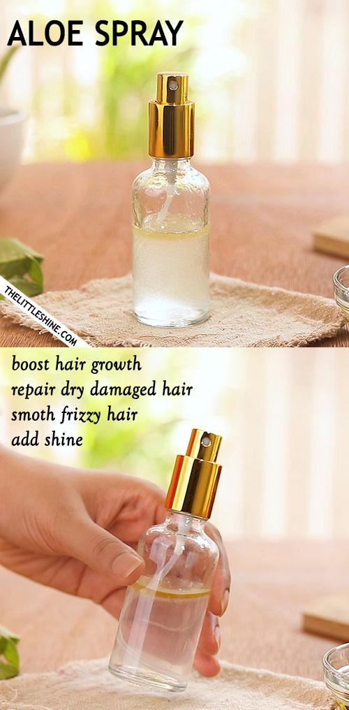 Aloe hair growth spray