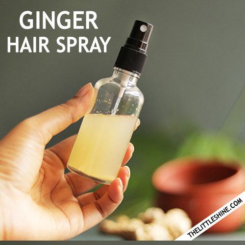 GINGER HAIR SPRAY - treat all hair problems