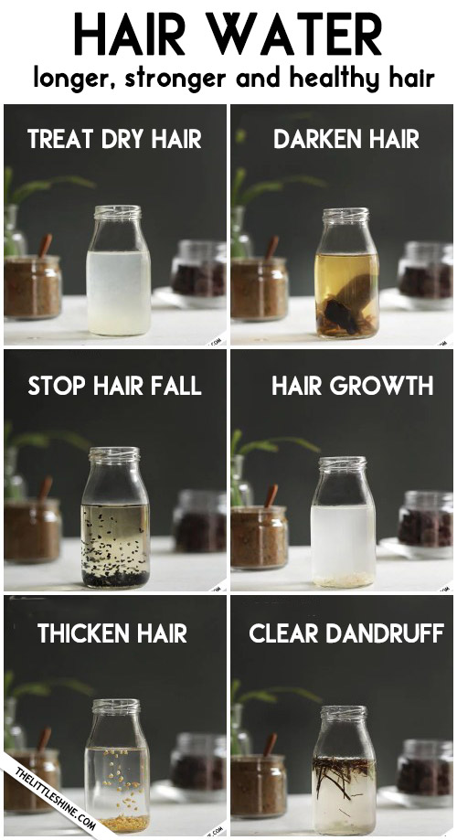 HAIR WATER for thicker hair and stop hair fall