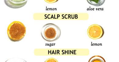 LEMON HAIR TREATMENT to deep clean scalp and boost hair growth
