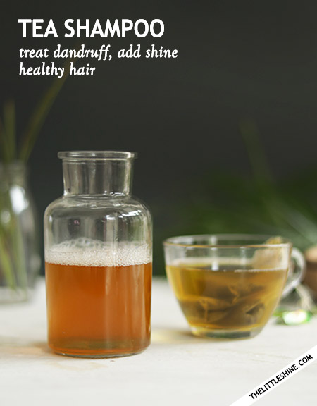 GREEN TEA SHAMPOO for dandruff, itchy scalp  -