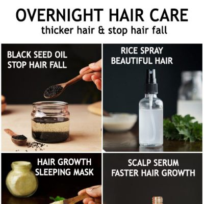 Overnight hair care for thicker hair growth