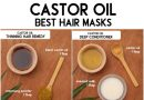OVERNIGHT HAIR MASKS using castor oil