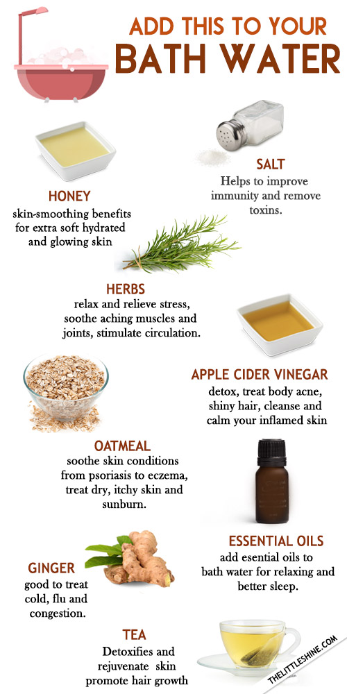ADD THESE THINGS TO YOUR BATH WATER for healthy skin and hair
