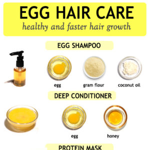 EGG HAIR TREATMENTS for health and faster hair growth