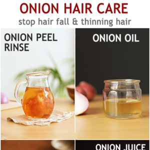 ONION HAIR CARE - recipes, benefits, and uses