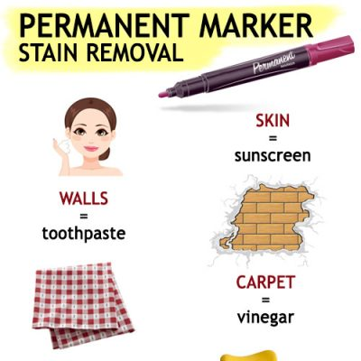 Remove permanent marker stains easily