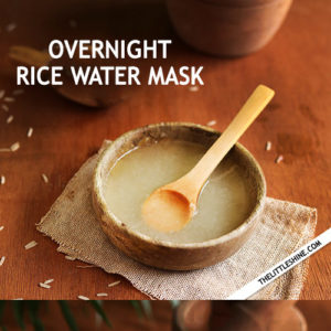 Overnight rice water hair mask