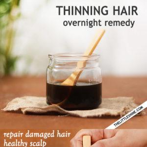 Thinning Hair Overnight Remedy