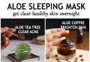 Overnight Aloe vera face masks for clear, healthy skinv