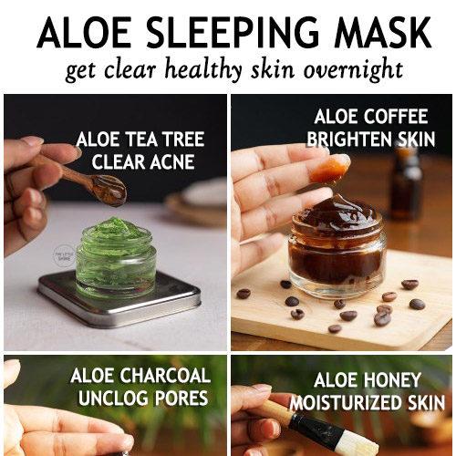 Overnight Aloe vera face masks for clear, healthy skinv