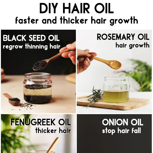 HOMEMADE NATURAL HAIR OIL RECIPE