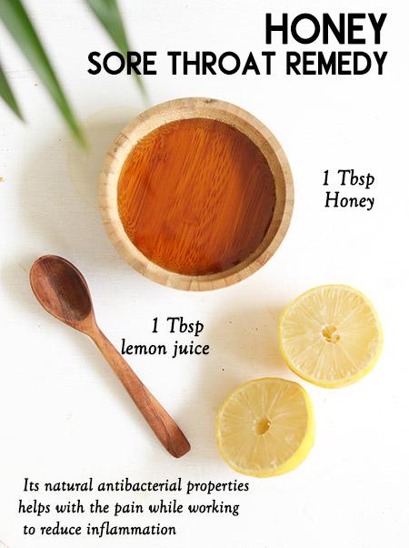 Honey for sore throat-