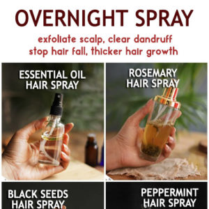 OVERNIGHT HAIR SPRAY to stop hair fall, thinning hair and regrow thicker hair