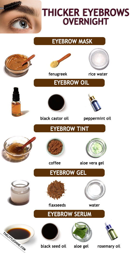 GET DARKER AND THICKER EYEBROWS OVERNIGHT - The Little Shine