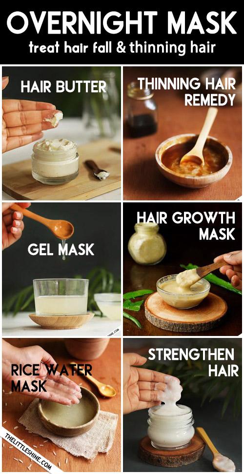 6 Best Natural Overnight Hair masks